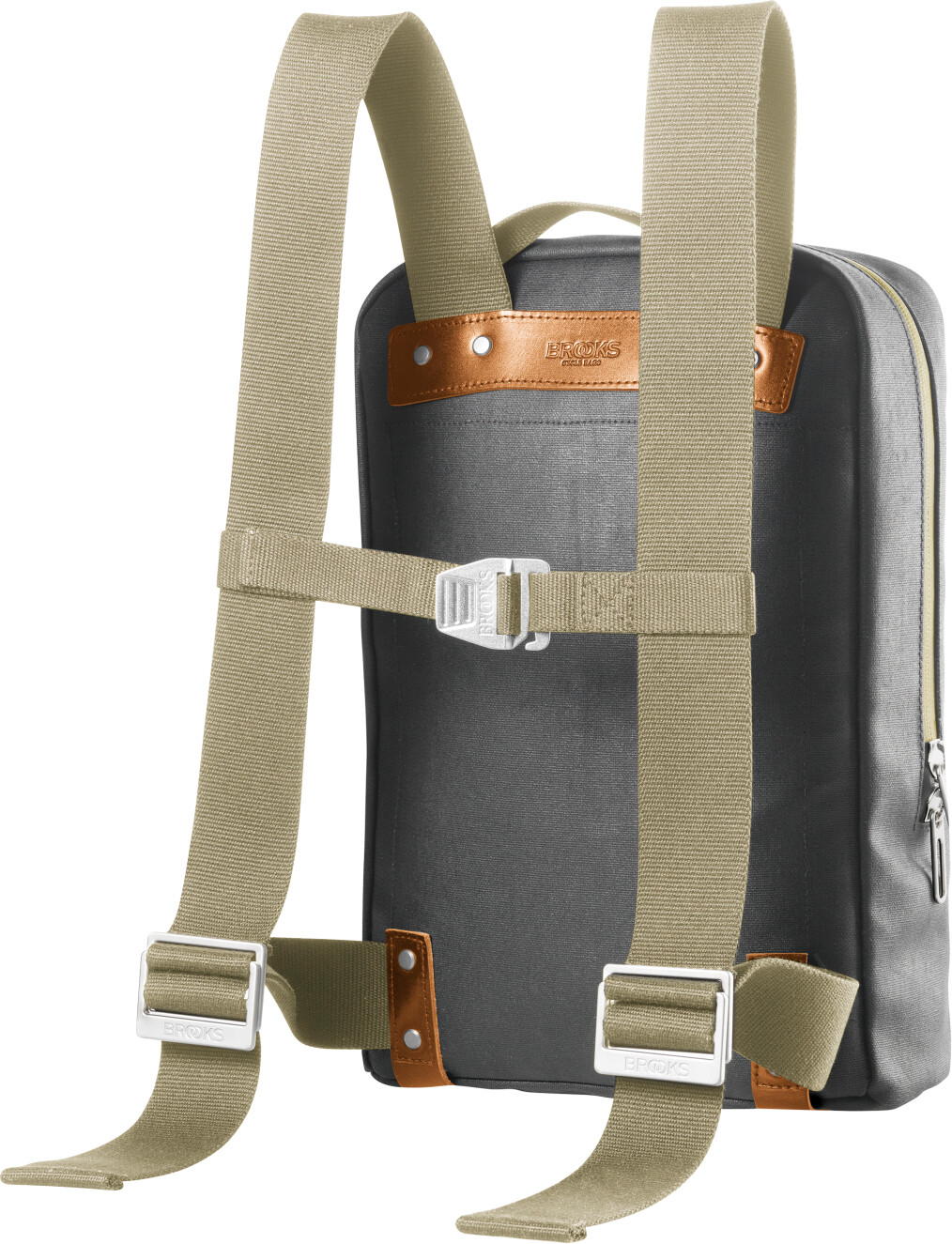 096f32e445a Brooks Pickzip Canvas Backpack Small grey at Bikester.co.uk